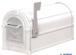 See White & Silver Mailbox Combination Package.