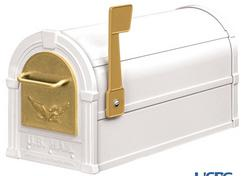See White & Gold Mailbox Combination Package.