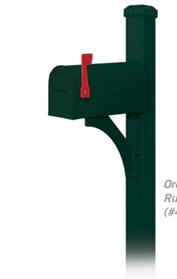 Salsbury Designer Green Rural Mailbox Package